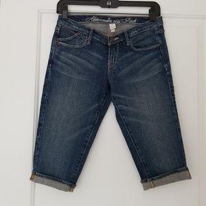 New Abercombie & Fitch Blue Capri Jeans